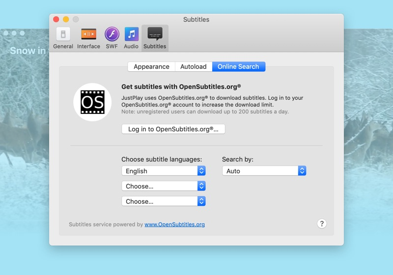Media player for Mac with advanced subtitles support